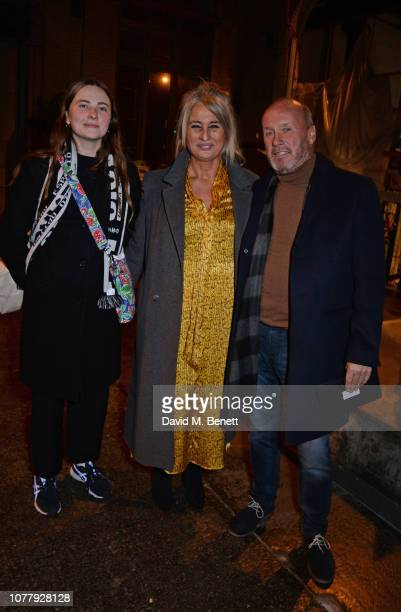 Leanne Jeffrey Annette HallJeffrey and Allan McKay attend the Charles Jeffrey LOVERBOY show during London Fashion Week Men's January 2019 at Wapping...