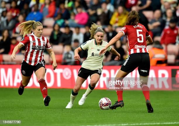 Leanne Kiernan of Liverpool Women during the Barclays FA Women's Championship match between Sheffield United Women and Liverpool Women at Bramall...