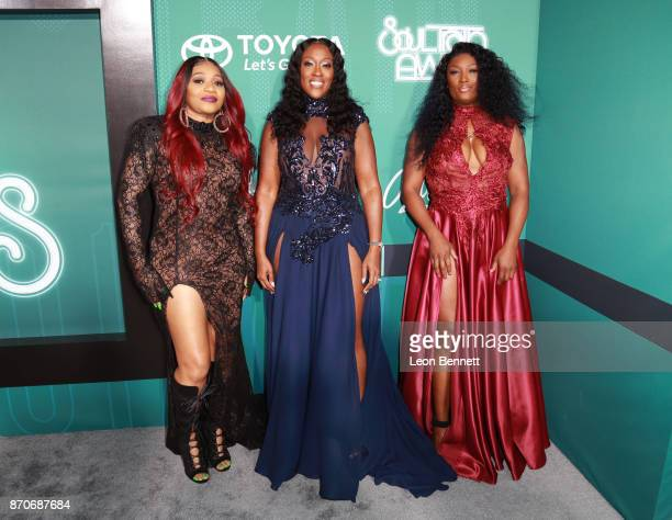 Leanne 'Lelee' Lyons Cheryl 'Coko' Clemons and Tamara 'Taj' JohnsonGeorge of SWV attend the 2017 Soul Train Awards presented by BET at the Orleans...