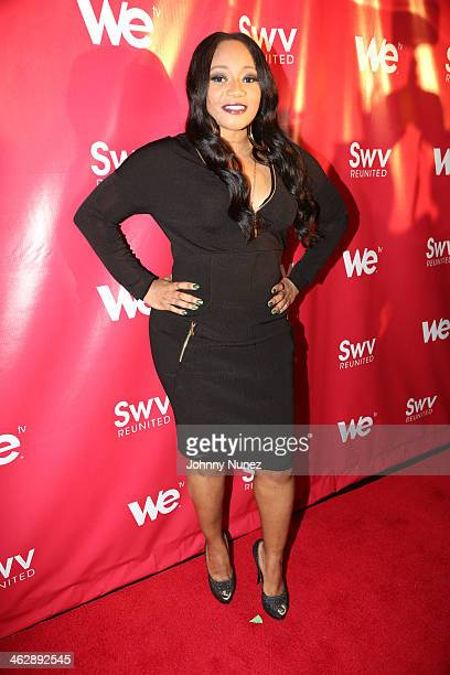 Leanne 'Lelee' Lyons of SWV attends the 'SWV Reunited' series premiere at Jazz Room at the General on January 15 2014 in New York City