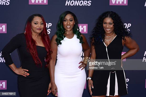 Leanne 'Lelee' Lyons Tamara JohnsonGeorge and Coko from SWV attend the 2016 VH1 Hip Hop Honors All Hail The Queens at Hammerstein Ballroom on July 11...