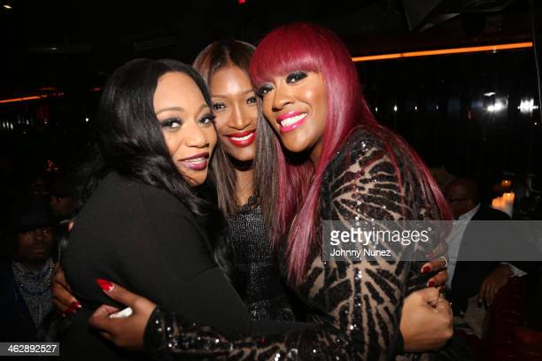 Leanne 'Lelee' Lyons Tamara 'Taj' George and Cheryl 'Coko' Clemons of SWV attend the 'SWV Reunited' series premiere at Jazz Room at the General on...
