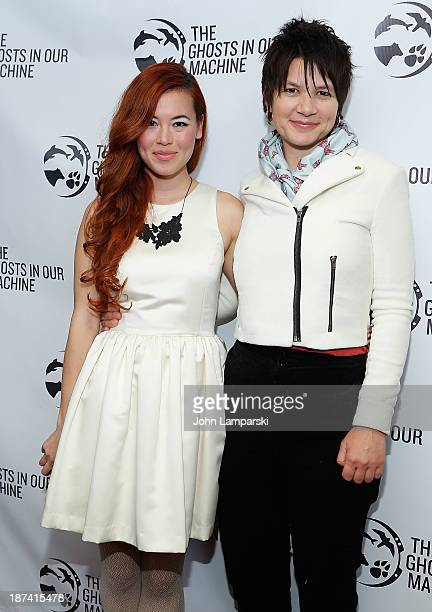 """Leanne Mai-ly Hilgart and Liz Marshall attend The Ghost In Our Machine"""" New York Screening at Village East Cinema on November 8, 2013 in New York..."""