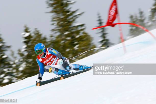 Leanne Smith of the USA competes during the Audi FIS Alpine Ski World Cup Women's Downhill training on November 28 2012 in Lake Louise Canada