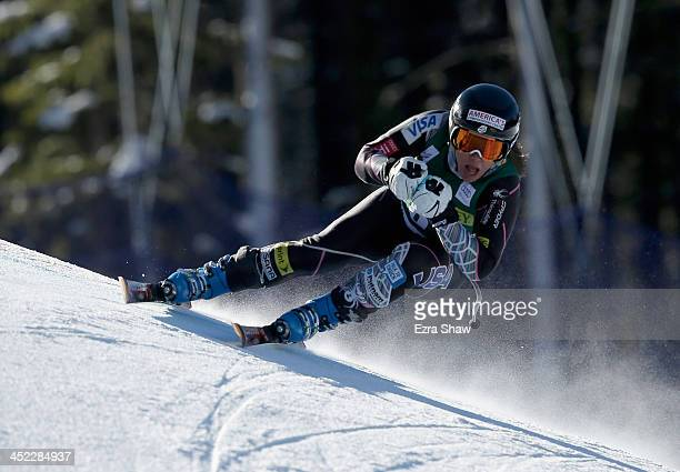 Leanne Smith of the USA in action during day 2 of training on Raptor for the FIS Beaver Creek Ladies Downhill World Cup on November 27 2013 in Beaver...