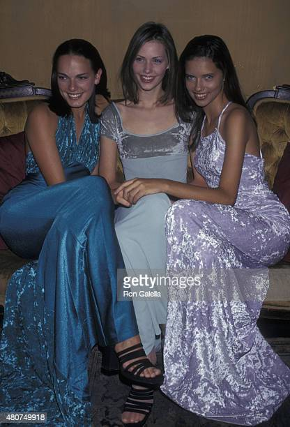 Leanne Spencer Tarryn Meaker and Adriana Lima attend Ford Models Inc 'Supermodel of the World' Press Conference on January 30 1997 at Spy in New York...