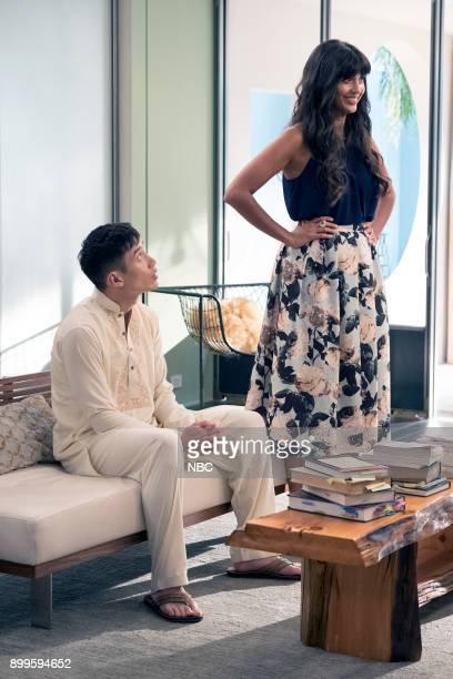 PLACE 'Leap Into Faith' Episode 209 Pictured Manny Jacinto as Jianyu Jameela Jamil as Tehani