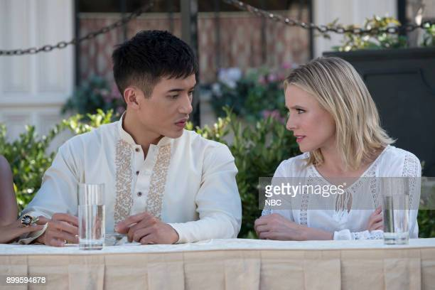 PLACE 'Leap Into Faith' Episode 209 Pictured Manny Jacinto as Jianyu Kristen Bell as Eleanor