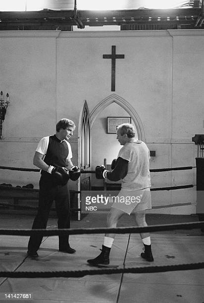 LEAP 'Leap of Faith August 19 1963' Episode 3 Pictured Sandy McPeak as Father McRoberts Scott Bakula as Dr Sam Beckett Photo by Alice S Hall/NBCU...