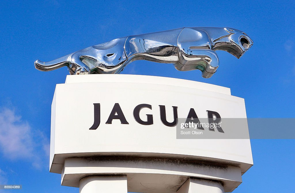 A Leaping Cat Jaguar Emblem Sits Outside The Howard Orloff Jaguar  Dealership March 19, 2009