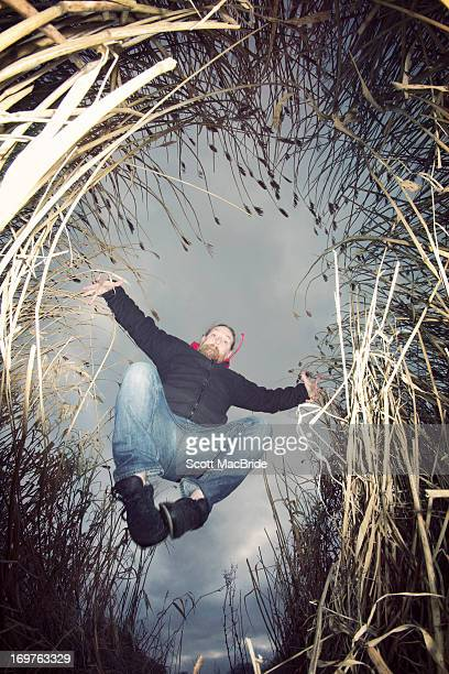 Leaping in the reeds