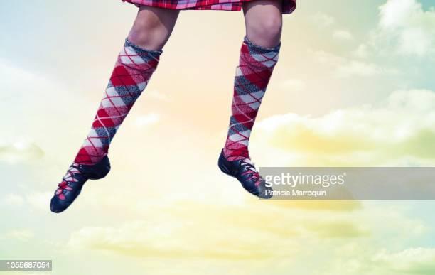 Leaping Scottish Dancer