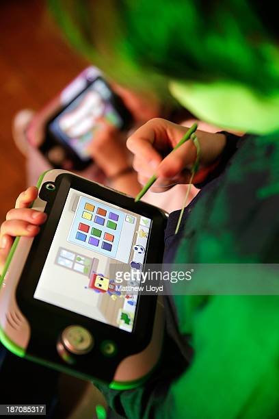 LeapPad Ultras in use by children attending a media event at St Mary's Church in Marylebone on November 6 2013 in London England The Toy Retailers...