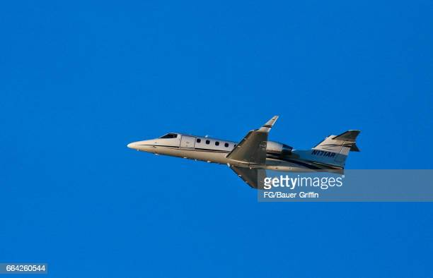 Learjet 31A takes off from LAX on February 06 2017 in Los Angeles California