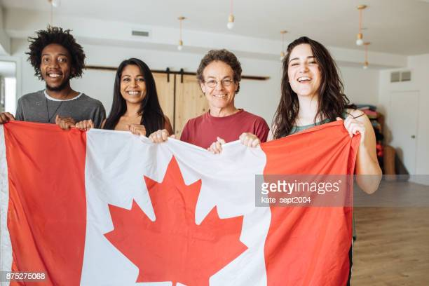 learn english with us - canadian flag stock pictures, royalty-free photos & images