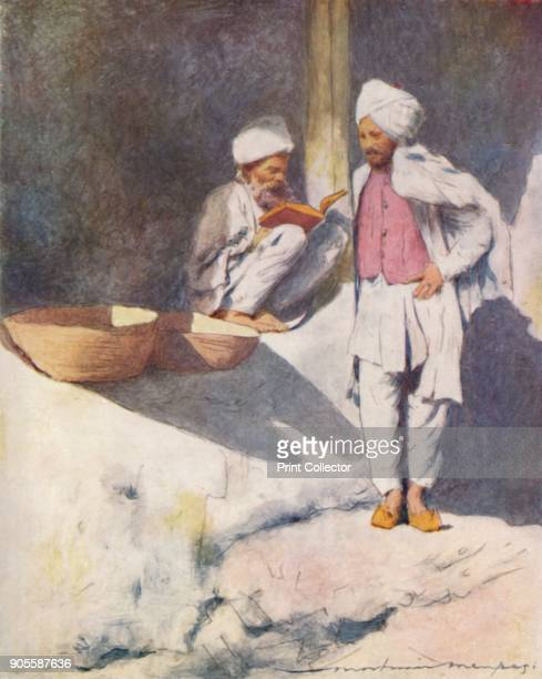 'A Learned Man of Peshawur' 1905 From India by Mortimer Menpes Text by Flora A Steel [Adam Charles Black London 1905] Artist Mortimer Luddington...