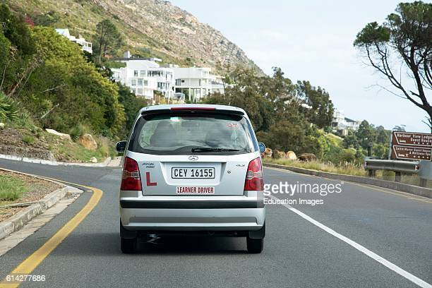 Learner Driver Under Instruction on a South African Street