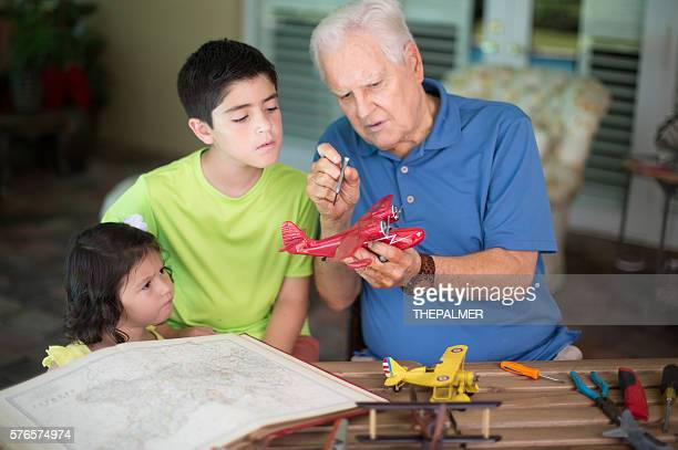Learning about planes with grandpa
