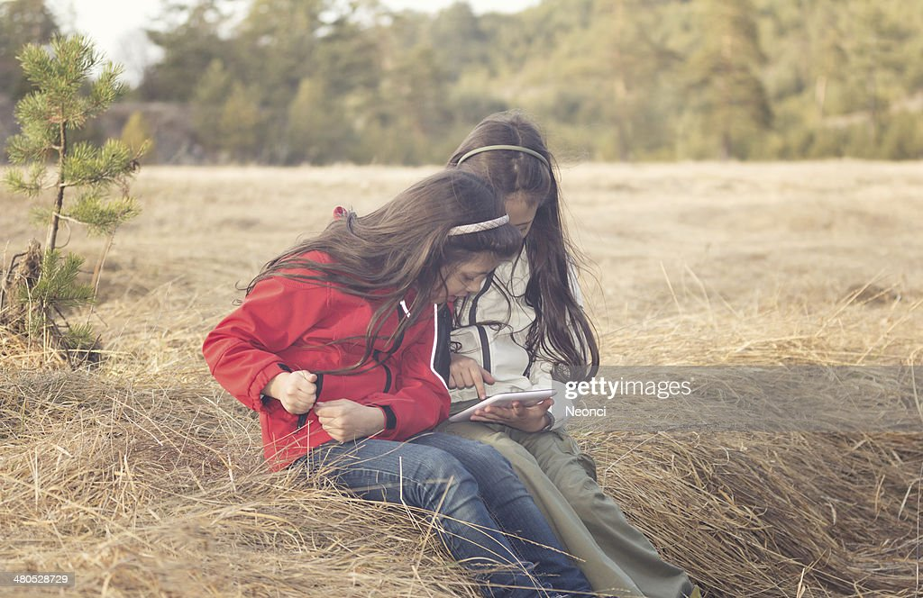 Learning and fun in nature : Stock Photo