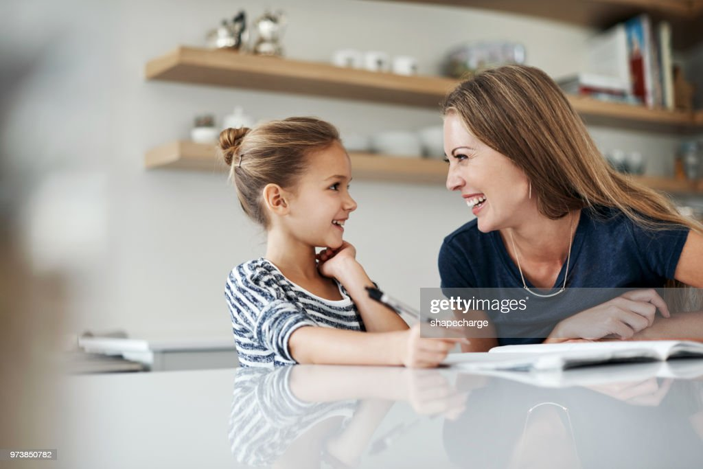 Learning can't be fun? you haven't learnt with my mom : Stock Photo