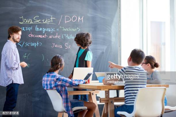 learning computer language - teen russia stock photos and pictures