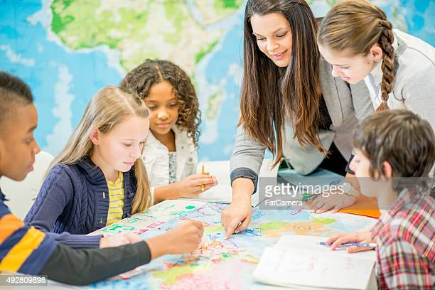 learning geography in class - history stock pictures, royalty-free photos & images