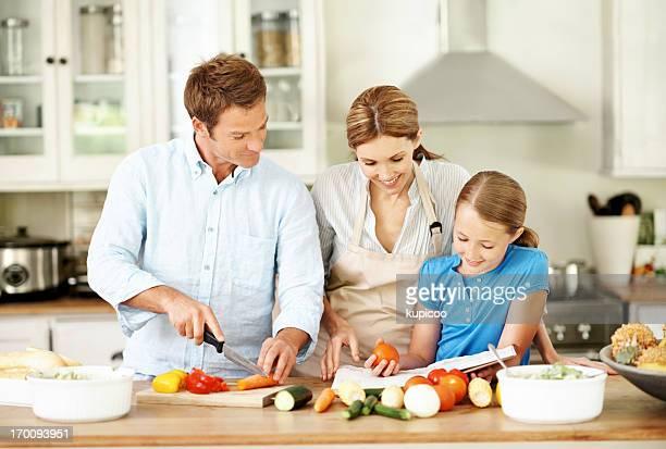 Lernen, wie man mit Mama und Papa