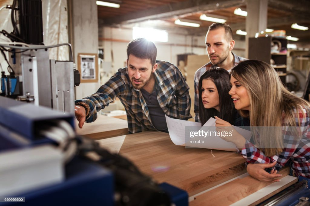 Learning How To Use A Cnc Machine Stock Photo Getty Images