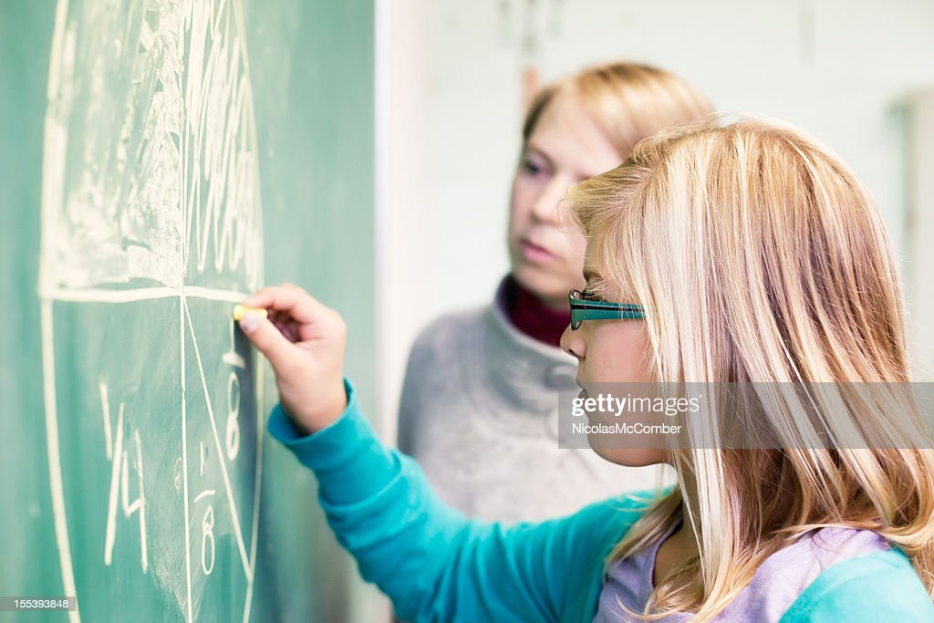 Learning Math Fractions : Stock Photo