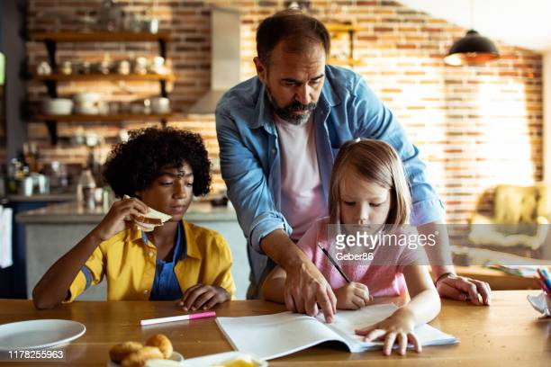 learning - stepfamily stock photos and pictures