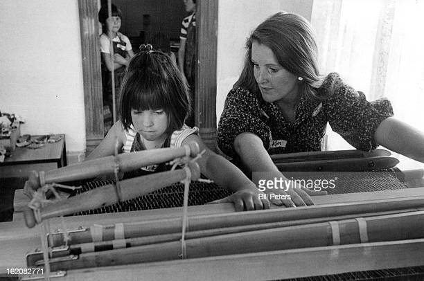 JUL 7 1978 JUL 10 1978 Learning The Loom Is Part Of Littleton Pupil's ***** Cynthia Kellogg who will be in third grade in Englewood next fall is...