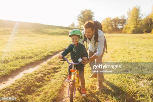 Lernen, mit dem Fahrrad