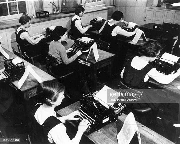 Learning to type and write shorthand 6 February 1937 Photograph by James Jarche Learning to type and write shorthand 6 February 1937 Photograph by...