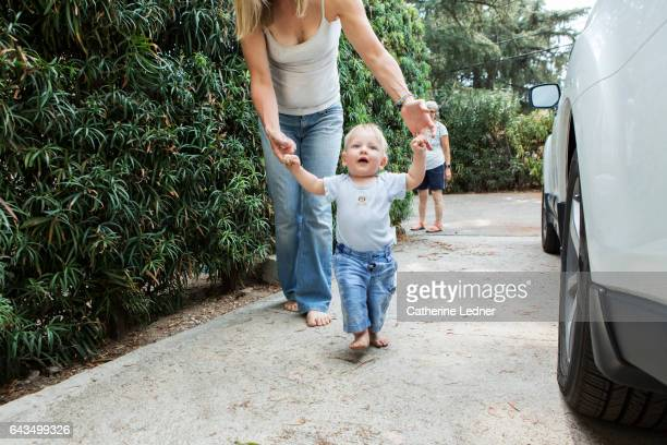 Learning to Walk with Mother's help