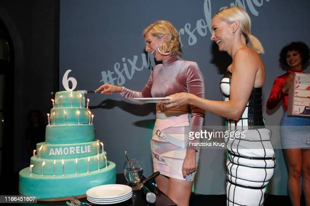 LeaSophie Cramer and Janin Ullmann during the 6th anniversary celebration of Amorelie at Humboldt Carre on September 6 2019 in Berlin Germany