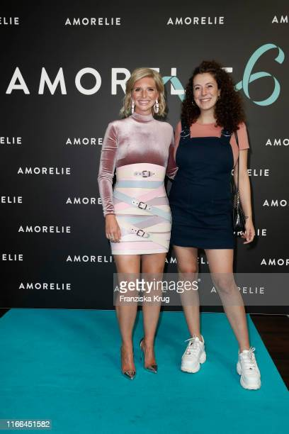 Lea-Sophie Cramer and Leila Lowfire during the 6th anniversary celebration of Amorelie at Humboldt Carre on September 6, 2019 in Berlin, Germany.
