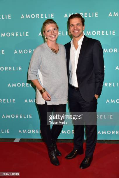 LeaSophie Cramer and Sebastian Pollok attend the Amorelie Christmas Calender Launch Dinner on October 12 2017 in Berlin Germany