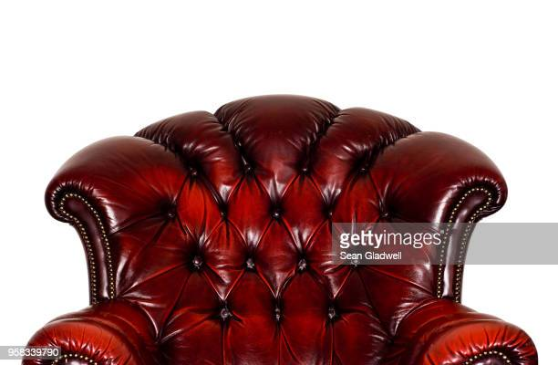 leather armchair - leather stock pictures, royalty-free photos & images