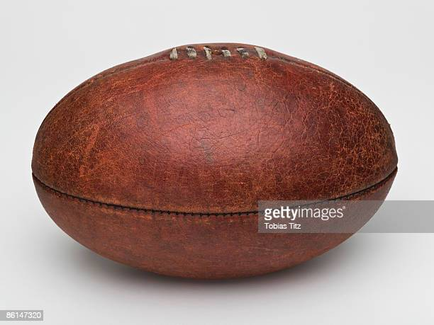 a leather australian rules football - afl stock pictures, royalty-free photos & images