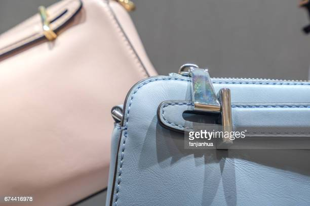 leather bag detail - leather purse stock pictures, royalty-free photos & images