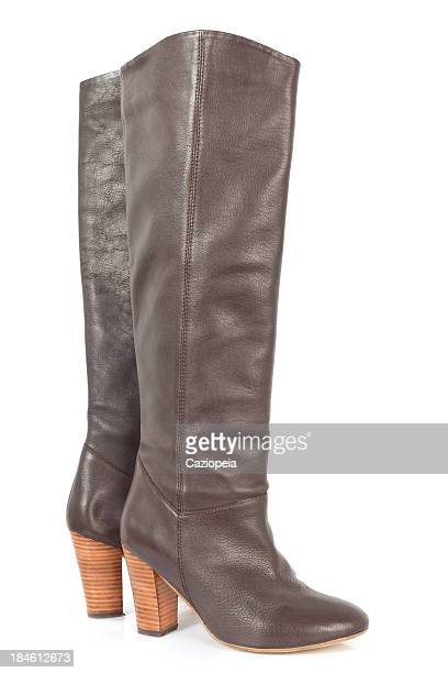 leather boots - knee length stock pictures, royalty-free photos & images