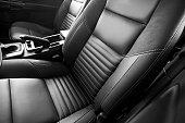 leather car seats close up