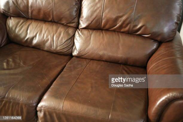 leather casual sofa - two seater sofa stock pictures, royalty-free photos & images