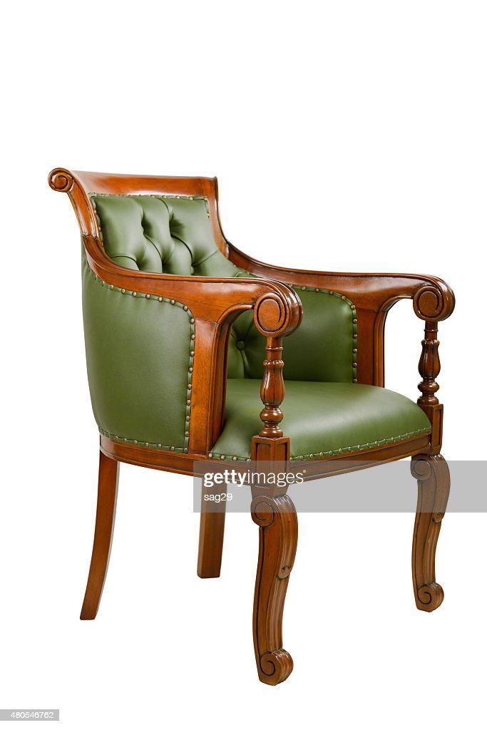 Cadeira de couro : Foto de stock