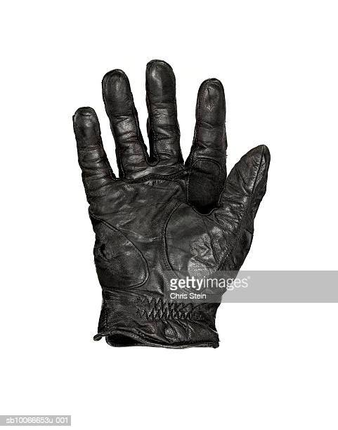 Leather glove on white background