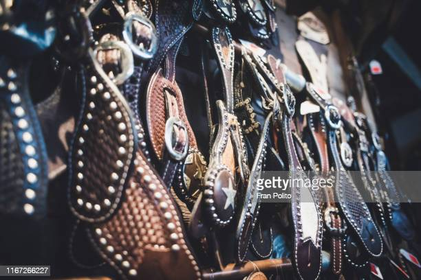leather goods in fort worth, tx. - fort worth stock pictures, royalty-free photos & images