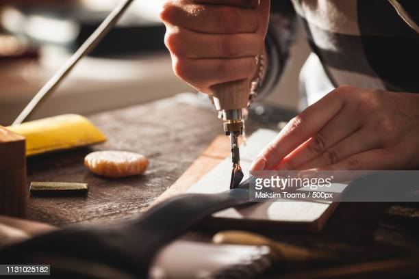 leather handbag craftsman - drawing art product stock pictures, royalty-free photos & images