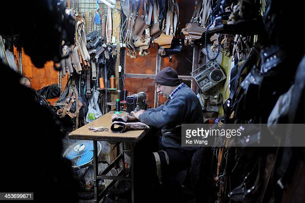 CONTENT] A leather maker works at his workshop in Old Damascus of Syria Feb 19 2012