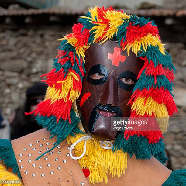 CONTENT] leather mask in traditional carnival in portugal