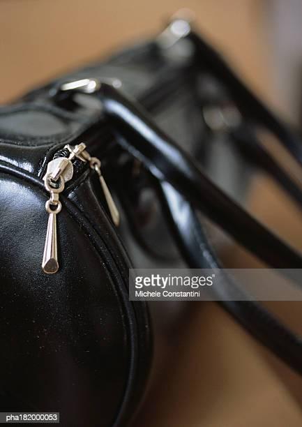 Leather purse, close-up